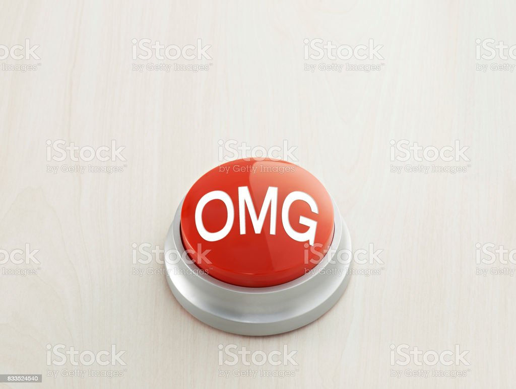 OMG button stock photo