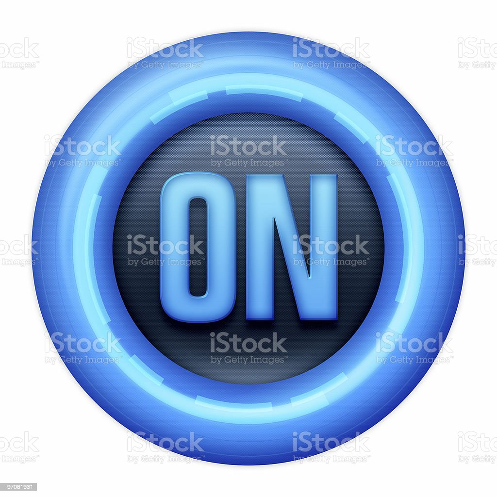 ON Button royalty-free stock photo