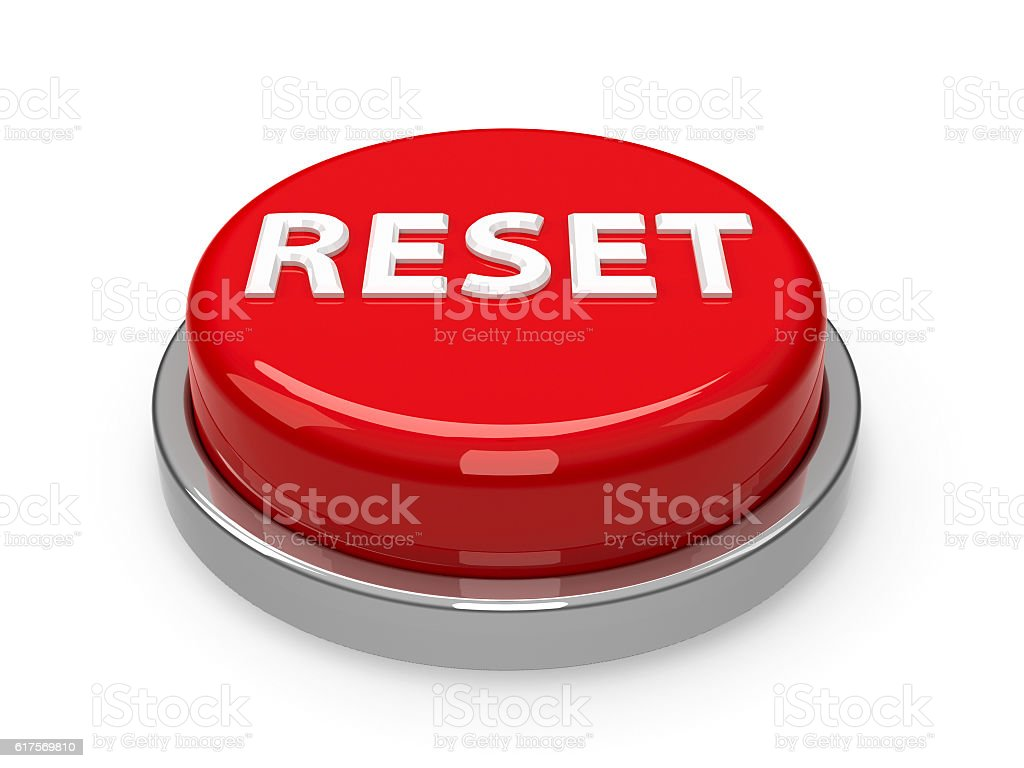 Button Reset stock photo