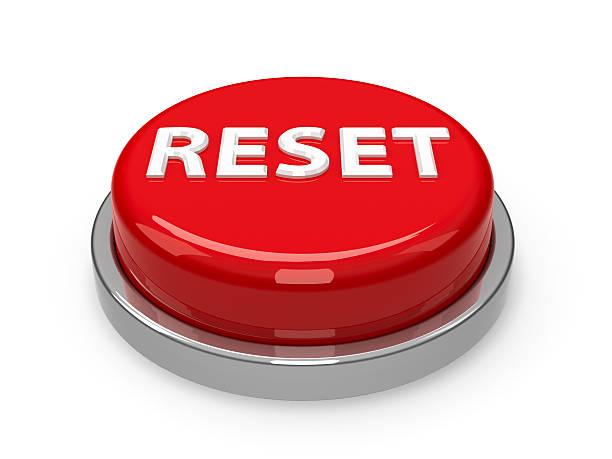Button Reset stock photo