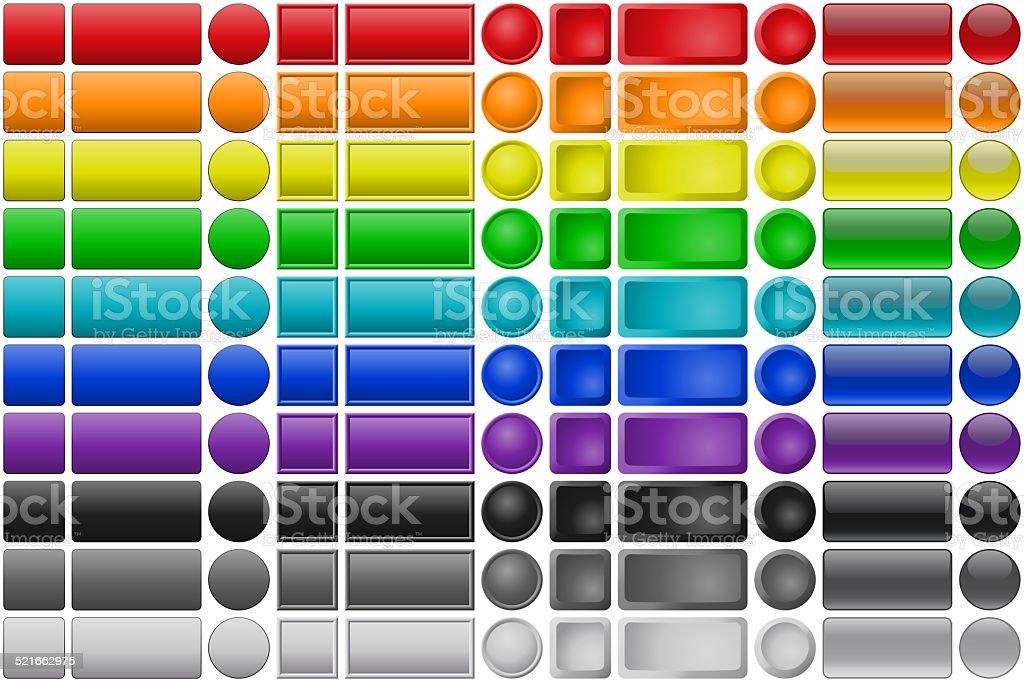 Button set stock photo