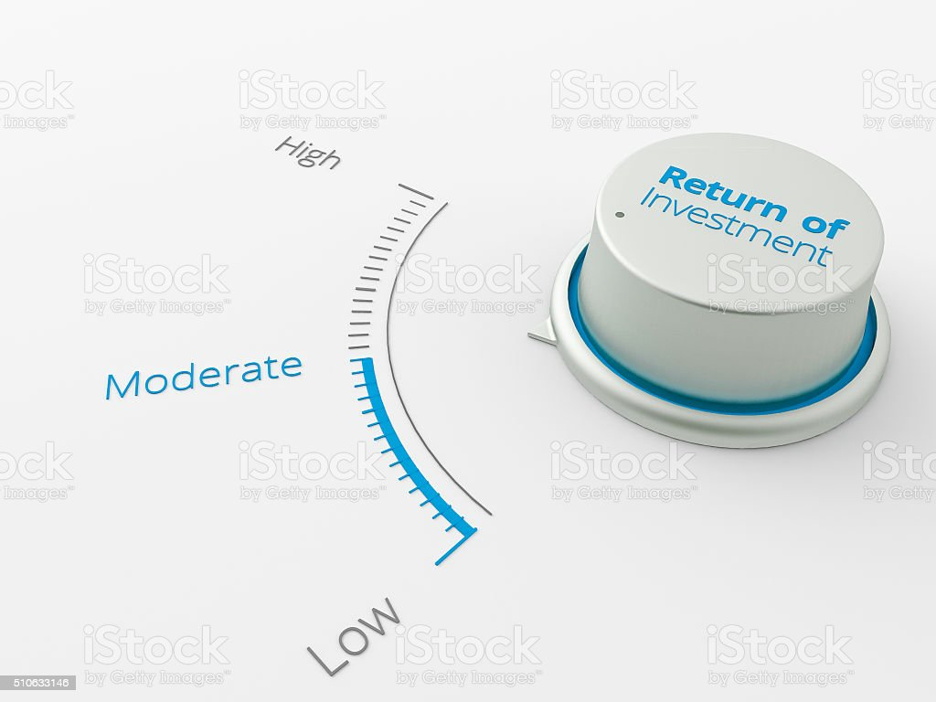 Button show moderatelevel for businesse stock photo