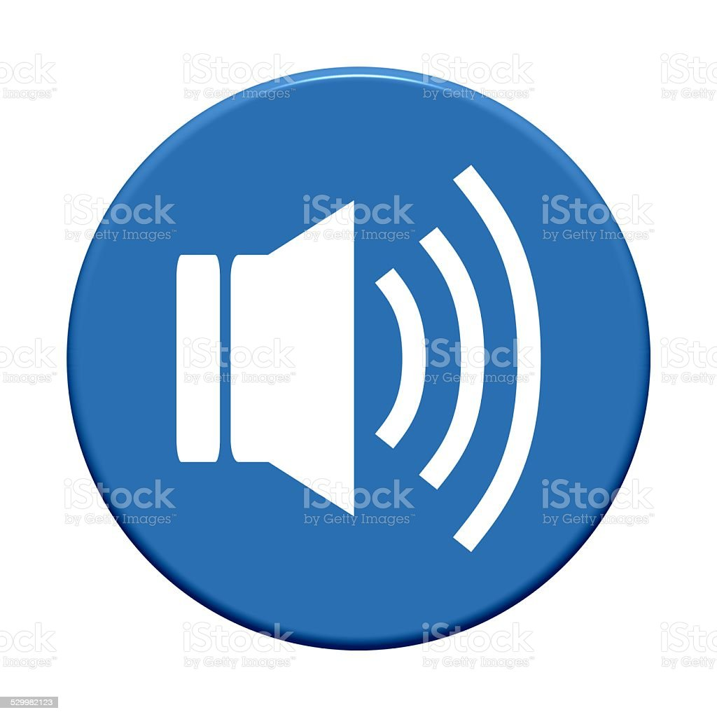 Button: Speaker stock photo