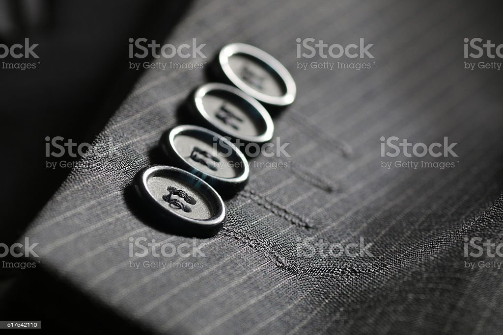 button suit stripe stock photo