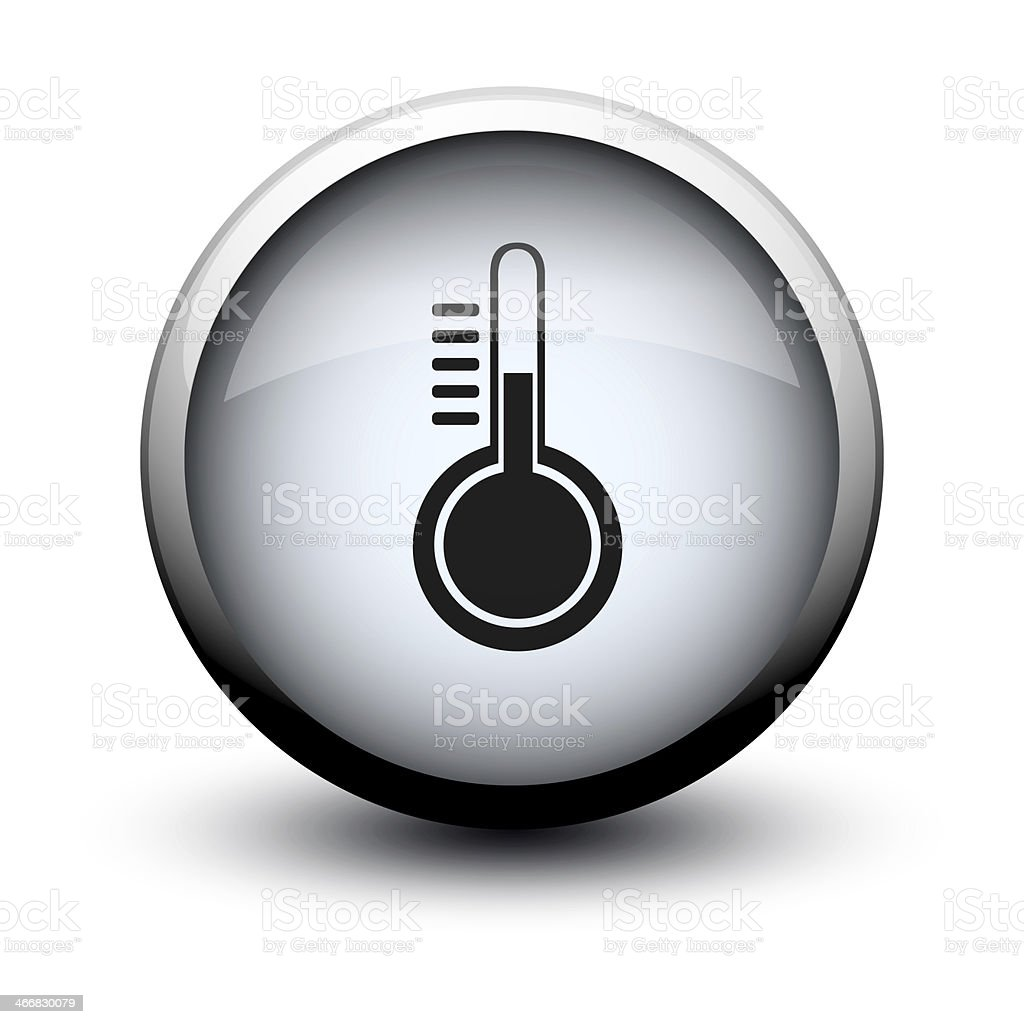 button thermometer 2d stock photo