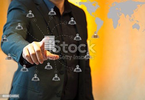 istock Button upload communication network 655604694