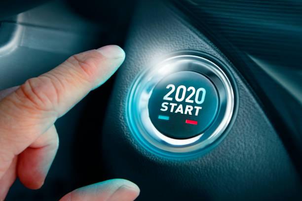 Button mit Beginn des neuen Jahres 2020 – Foto