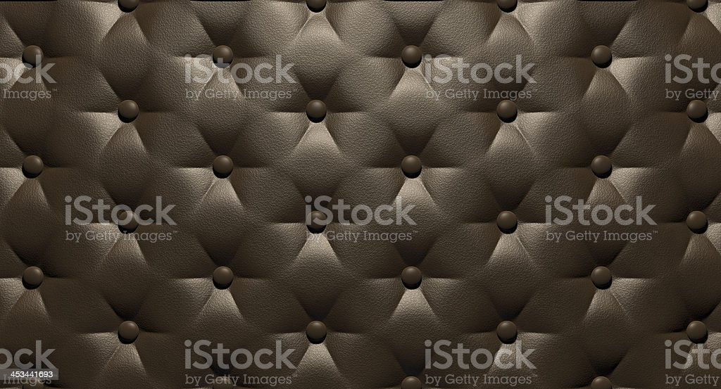 Buttoned Luxury Brown Leather Top royalty-free stock photo