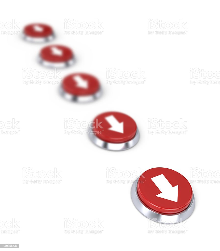 Buttons and arrow royalty-free stock photo