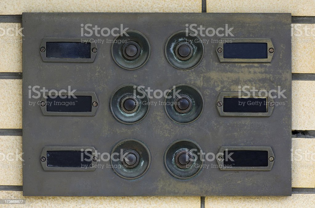 Buttons and name plates royalty-free stock photo