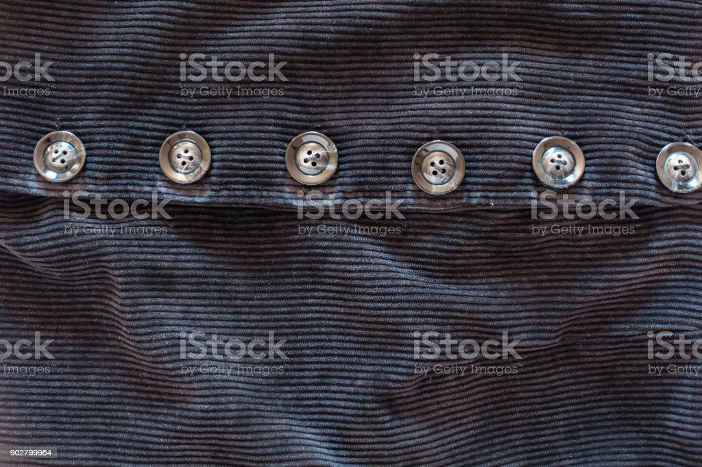 Botões e padrão de tecido de veludo, fundo de textura - foto de acervo