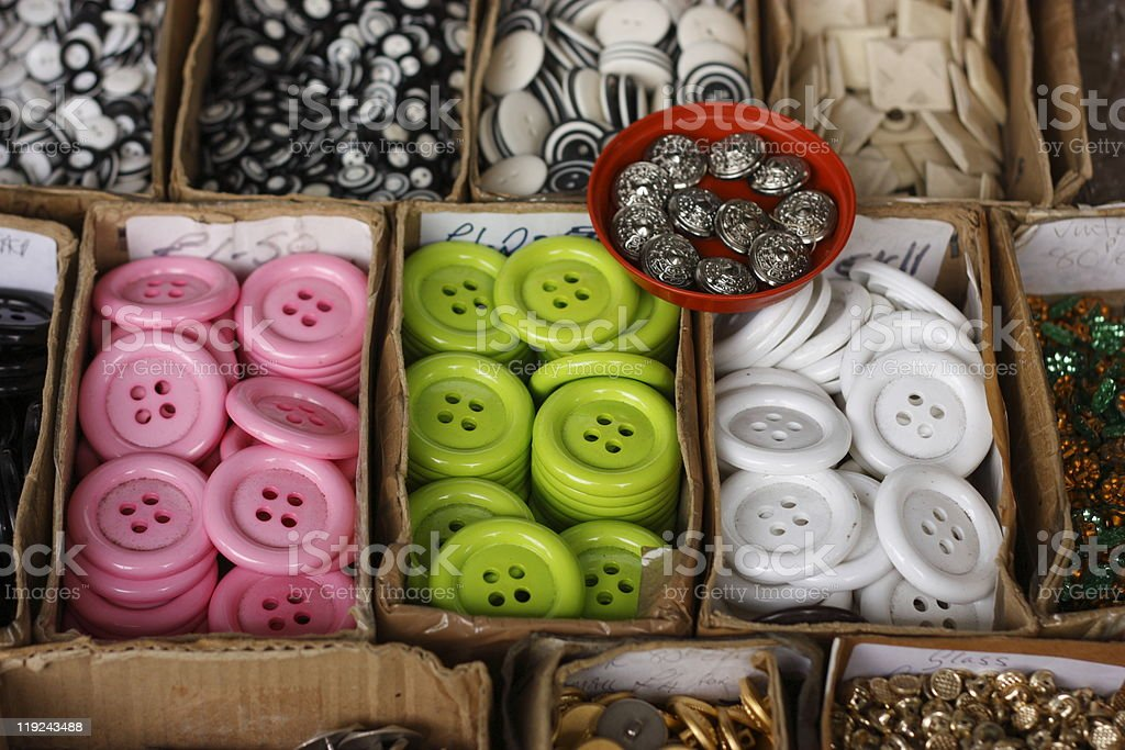 Buttons box royalty-free stock photo