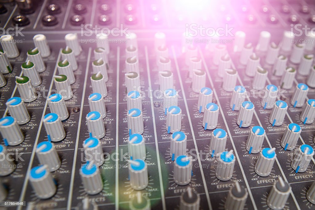Buttons Equipment For Sound Mixer Control Stock Photo & More