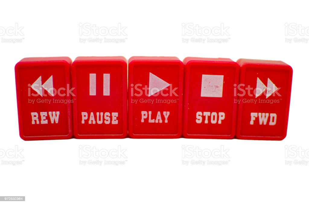 Buttons for playing music stock photo