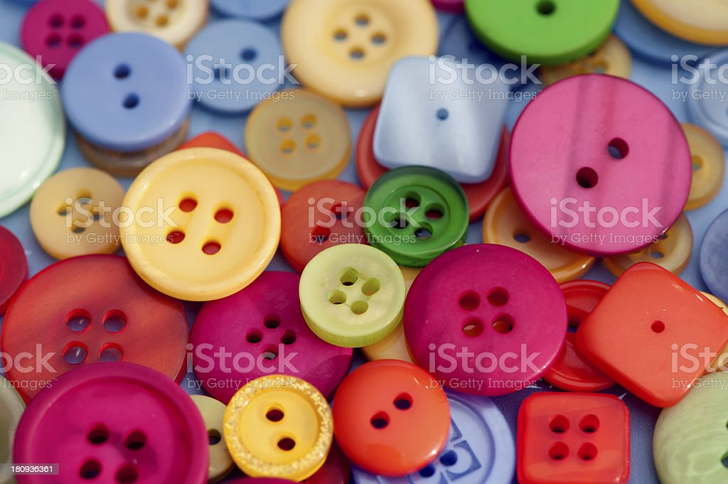 Buttons mixed royalty-free stock photo