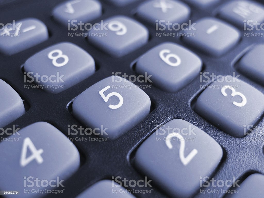 Buttons of calculator stock photo