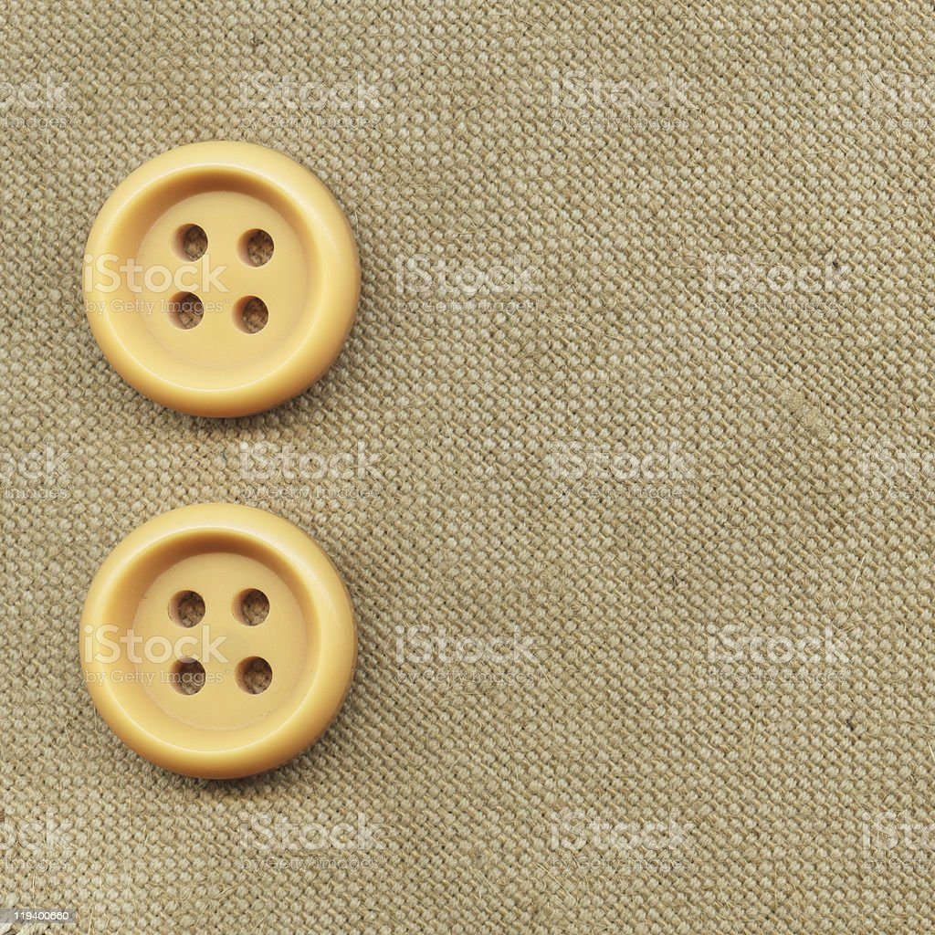 Buttons on the old clothes royalty-free stock photo