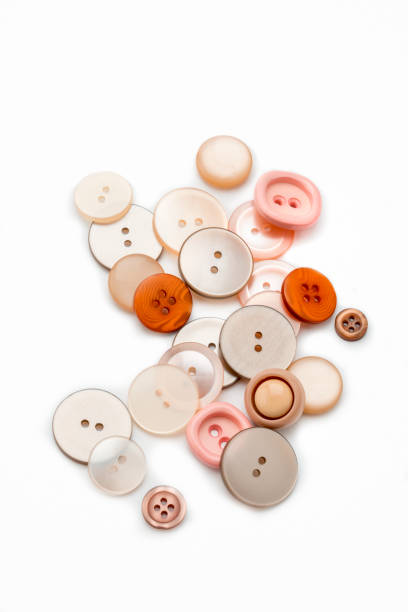 Buttons on white background stock photo