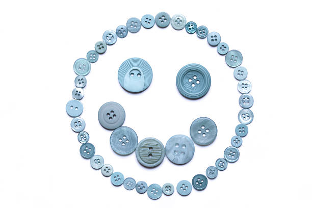 Buttonsmilie1 stock photo