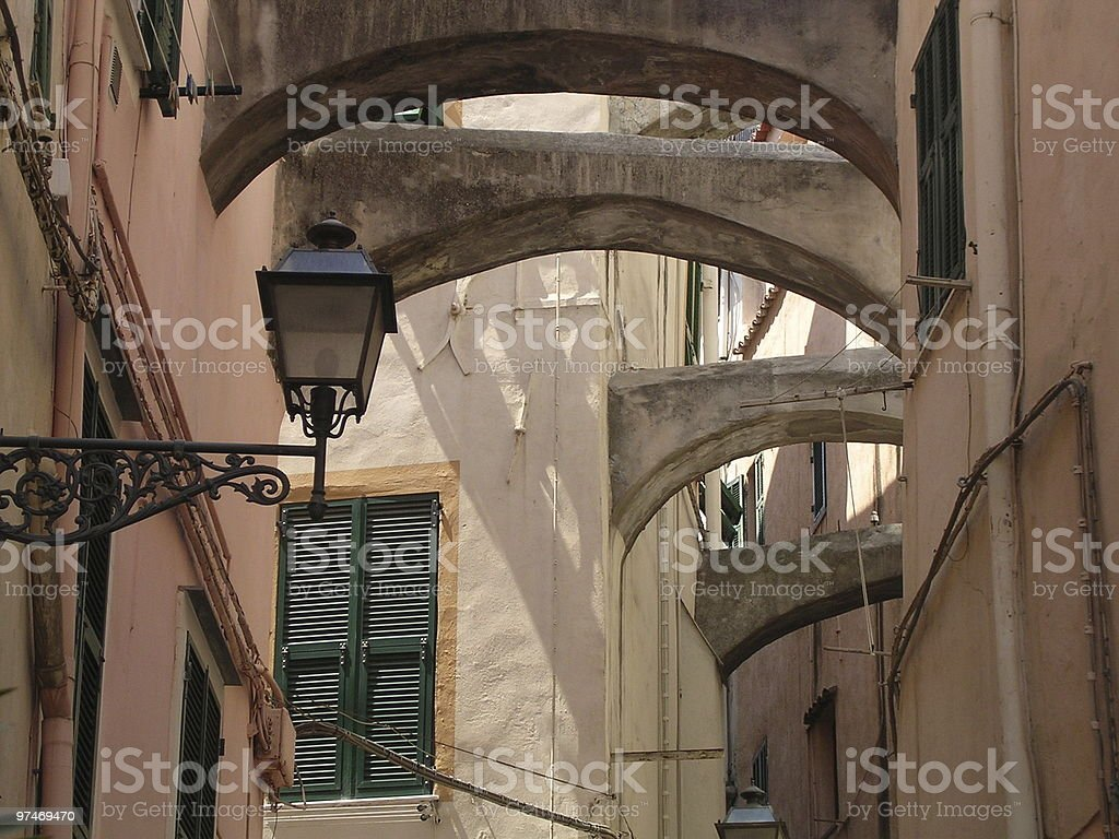 Buttress Alley. stock photo