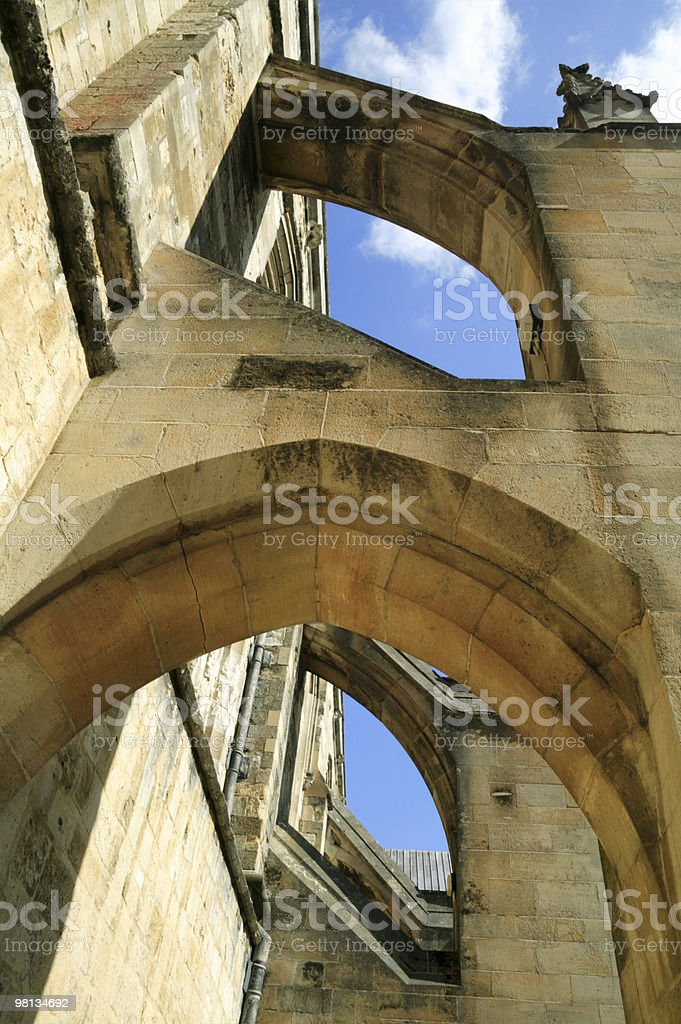 Buttress Arches Of Winchester Cathedral royalty-free stock photo