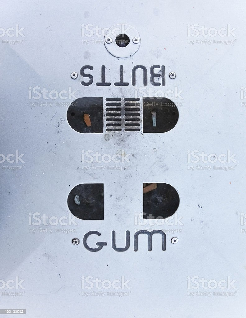Butts and gum royalty-free stock photo