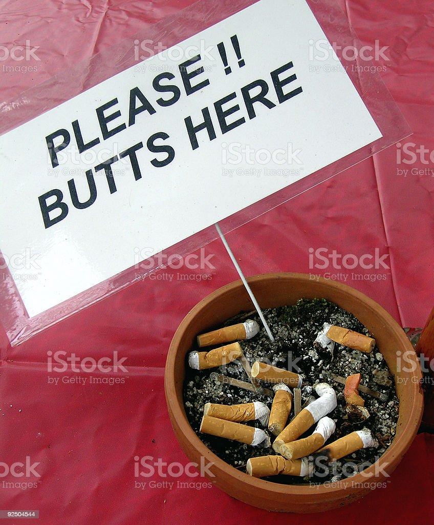 Butts Here royalty-free stock photo