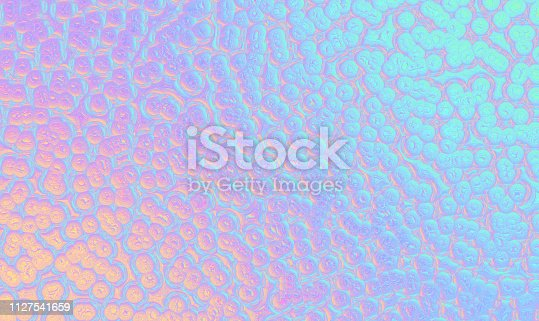 Buuble Iridescent Pattern Holographic Foil Colorful Texture Computer Graphic