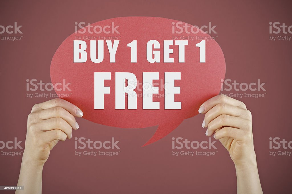 Buy 1 Get one free stock photo