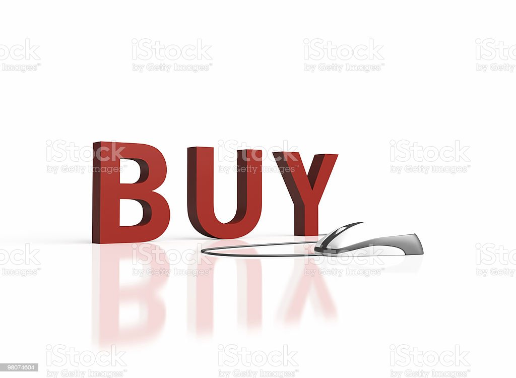 Buy 3D Text with Computer Mouse. royalty-free stock photo
