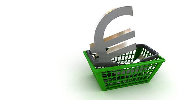 Buy Euros stock photo