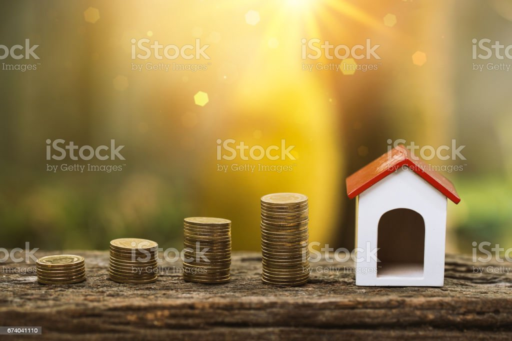 Buy house or selling for real estate property industry concept. royalty-free stock photo