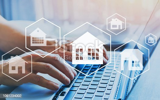 1023041738istockphoto Buy house, real estate concept, different offers of property online. 1061234002
