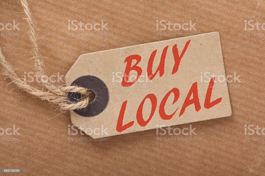 Buy Local Price Tag stock photo