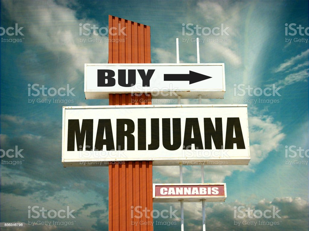 buy marijuana sign stock photo