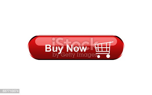 istock Buy now button isolated on white background 537710074