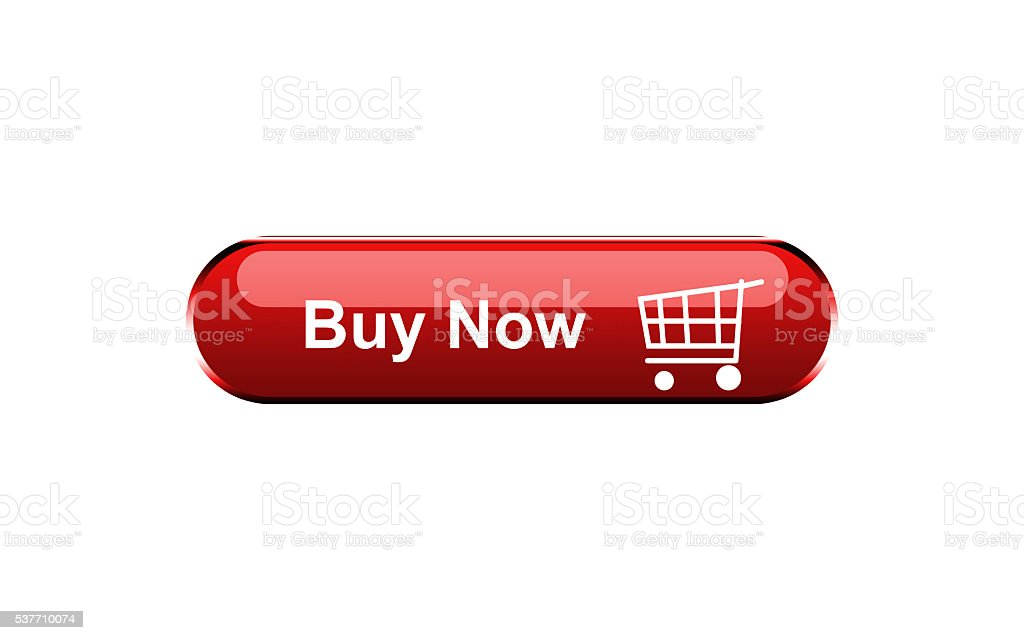 Buy now button isolated on white background stock photo