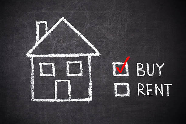 buy or rent house buy or rent house on blackboard buy single word stock pictures, royalty-free photos & images