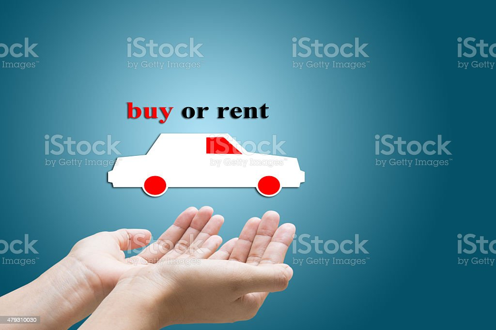buy or rent stock photo