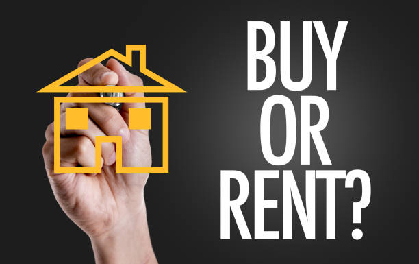 Buy or Rent? stock photo