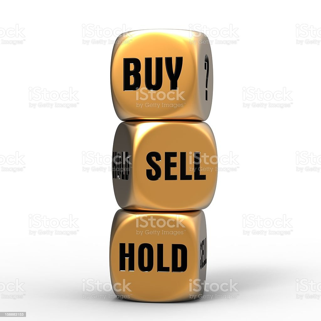 buy sell or hold royalty-free stock photo