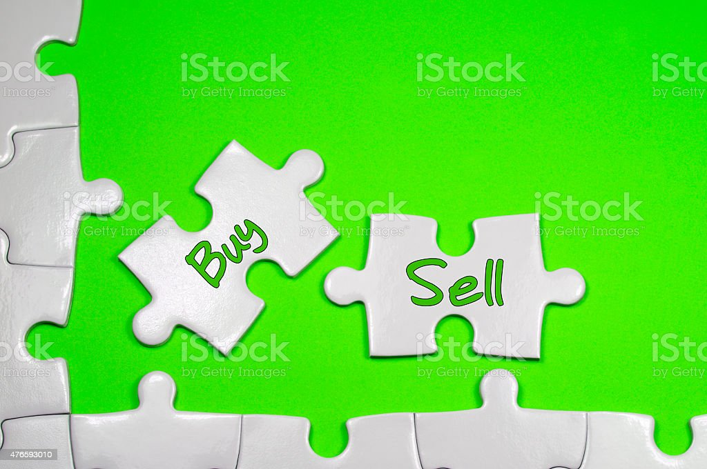 Buy Sell Text - Business Concepts stock photo