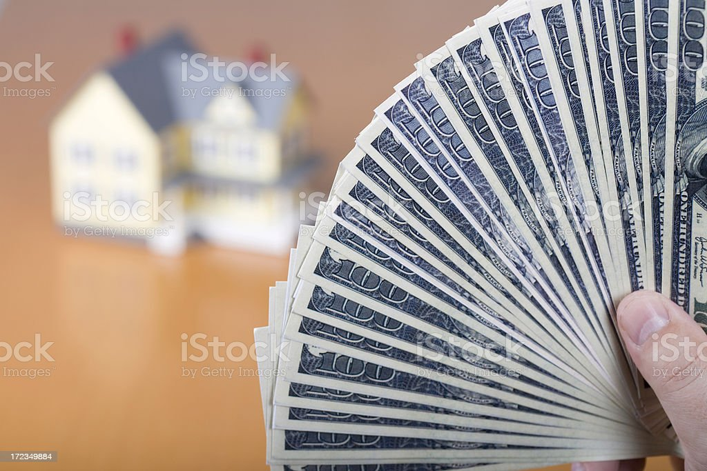 Buying a dream house royalty-free stock photo