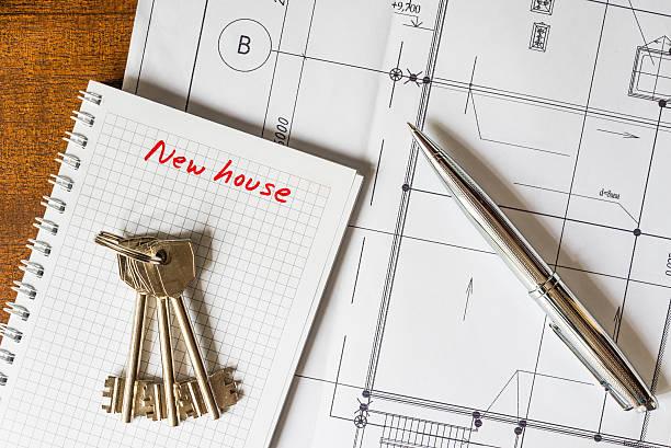 achat d'une maison, les clés de la nouvelle maison - 2015 photos et images de collection