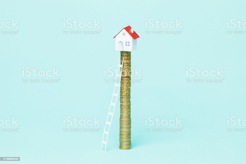 Buying a house during real state bubble stock photo