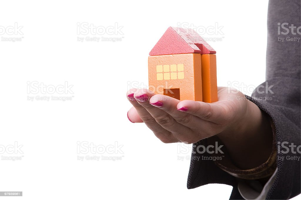 Buying a new house royalty-free stock photo