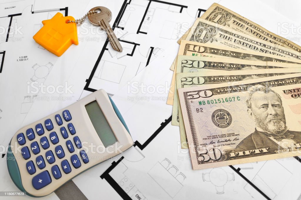 Buying a property in America stock photo