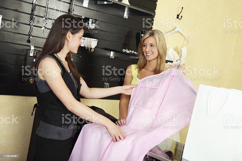 Buying A Wedding Dress royalty-free stock photo