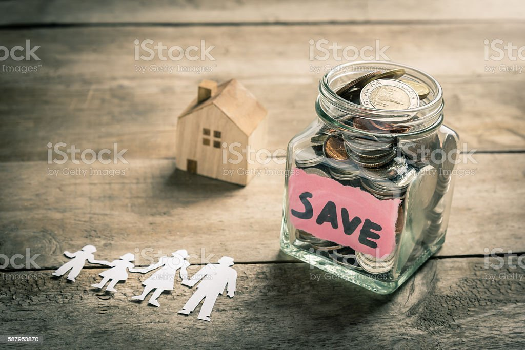 Buying and marketing house concept stock photo