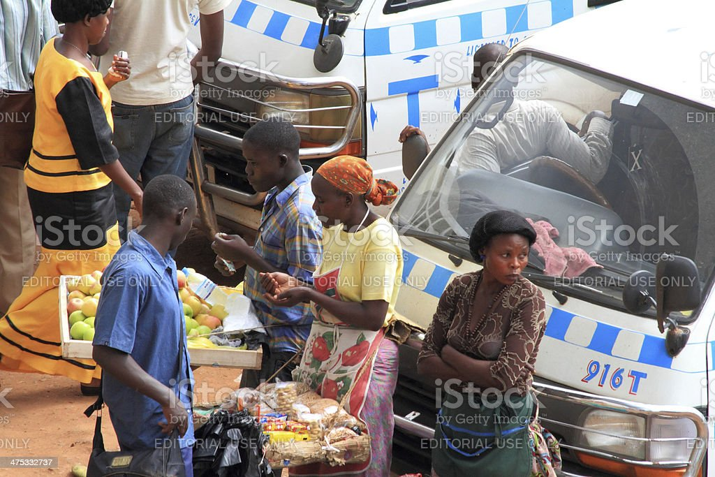 Buying and Selling Goods in Uganda stock photo